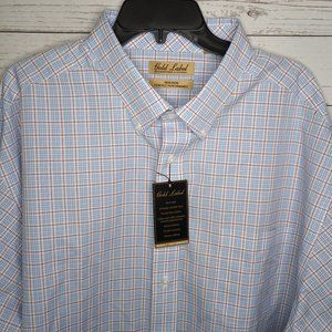 GOLD LABEL ROUNDTREE & YORKE MEN'S 3XB DRESS SHIRT